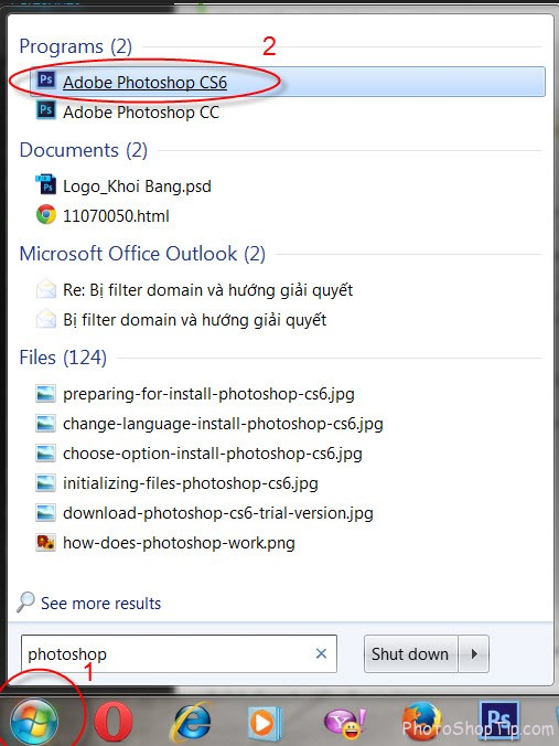 how to launch photoshop cs6