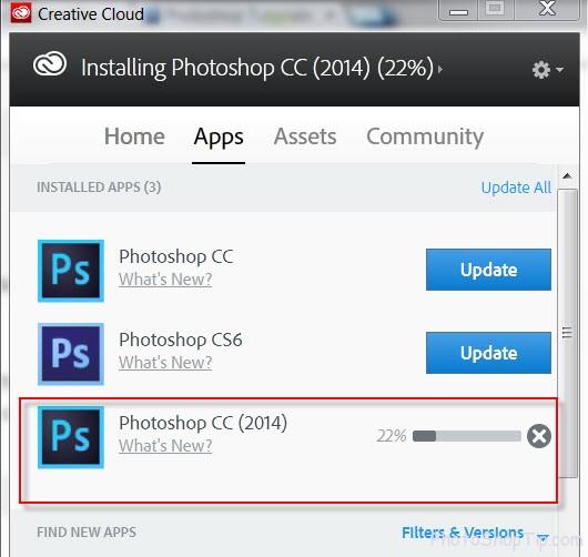 Installing Photoshop CC 2014