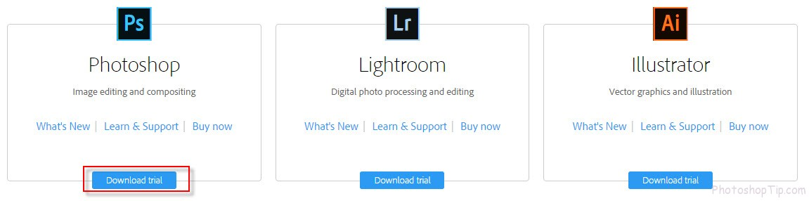How to install photohsop for Win 8 from Adobe website