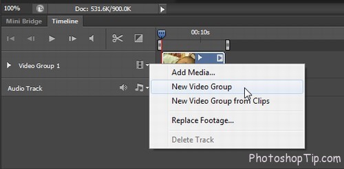Add text in timeline photoshop-cc