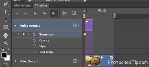 Create effects video in Timeline Photoshop CC