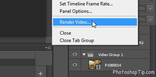 render video in Timeline Photoshop CC