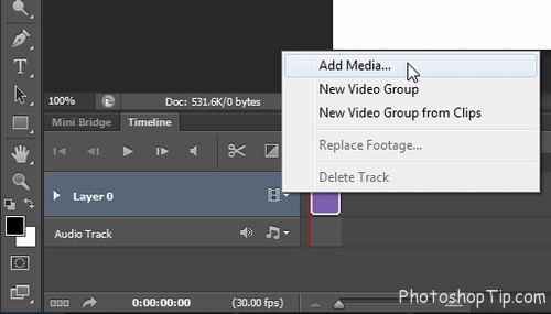 Timeline in Photoshop CC