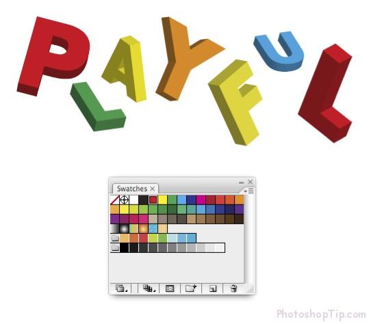 Create-3D-Text-in-Photoshop-CS 6-004