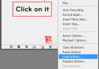 load an action in Photoshop