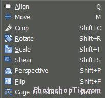 transform tools of GIMP