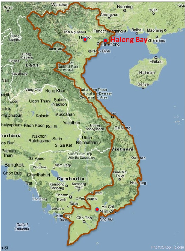 Ha Long bay map