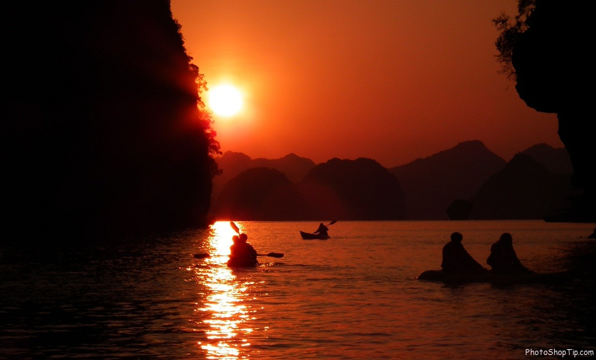 ha long bay sunset wallpaper