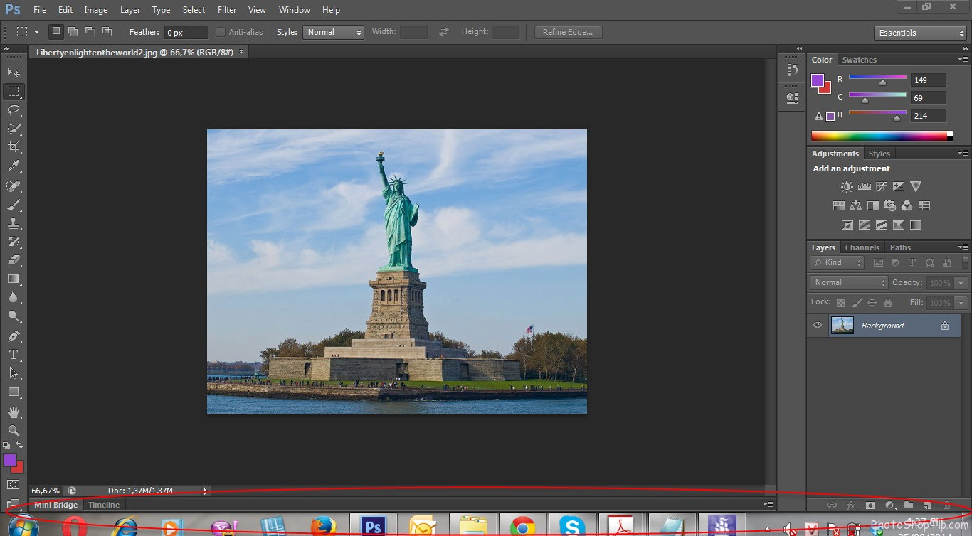 standart screen mode in photoshop cs6