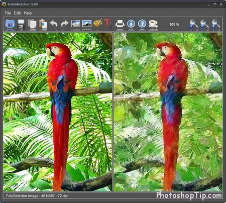 FotoSketcher - Turning A Photo Into A Wonderful Painting